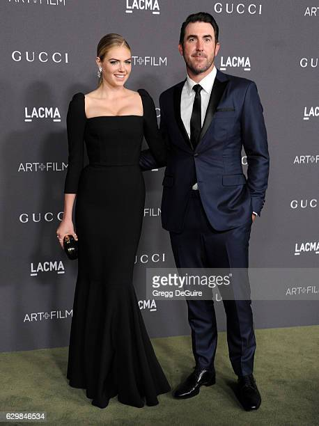 Actress/model Kate Upton and MLB player Justin Verlander arrive at the 2016 LACMA Art Film Gala Honoring Robert Irwin And Kathryn Bigelow Presented...