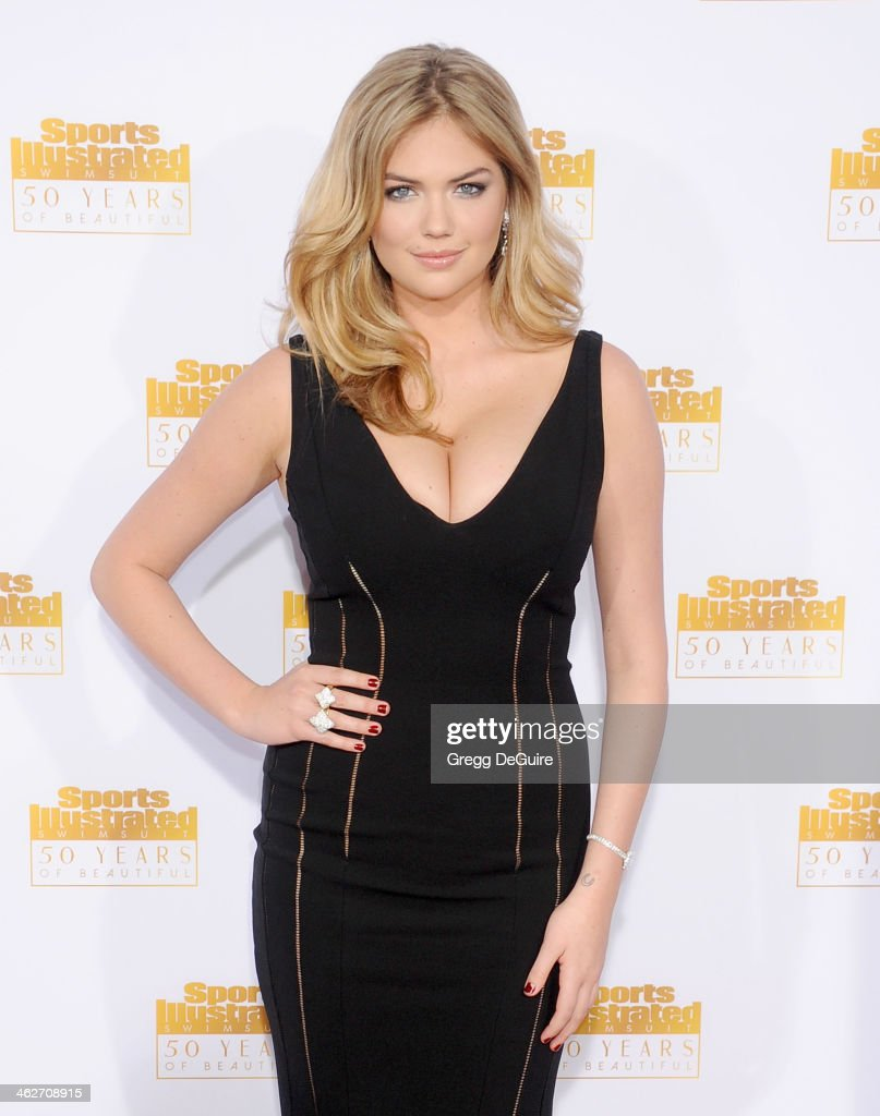 Actress/model <a gi-track='captionPersonalityLinkClicked' href=/galleries/search?phrase=Kate+Upton&family=editorial&specificpeople=7488546 ng-click='$event.stopPropagation()'>Kate Upton</a> arrives at the 50th Anniversary Celebration Of Sports Illustrated Swimsuit Issue at Dolby Theatre on January 14, 2014 in Hollywood, California.