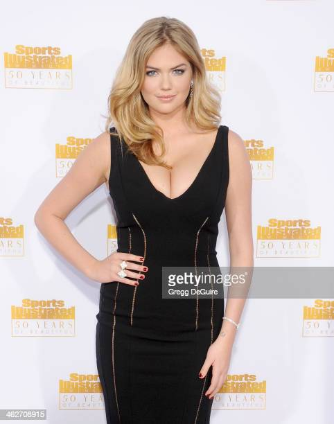 Actress/model Kate Upton arrives at the 50th Anniversary Celebration Of Sports Illustrated Swimsuit Issue at Dolby Theatre on January 14 2014 in...