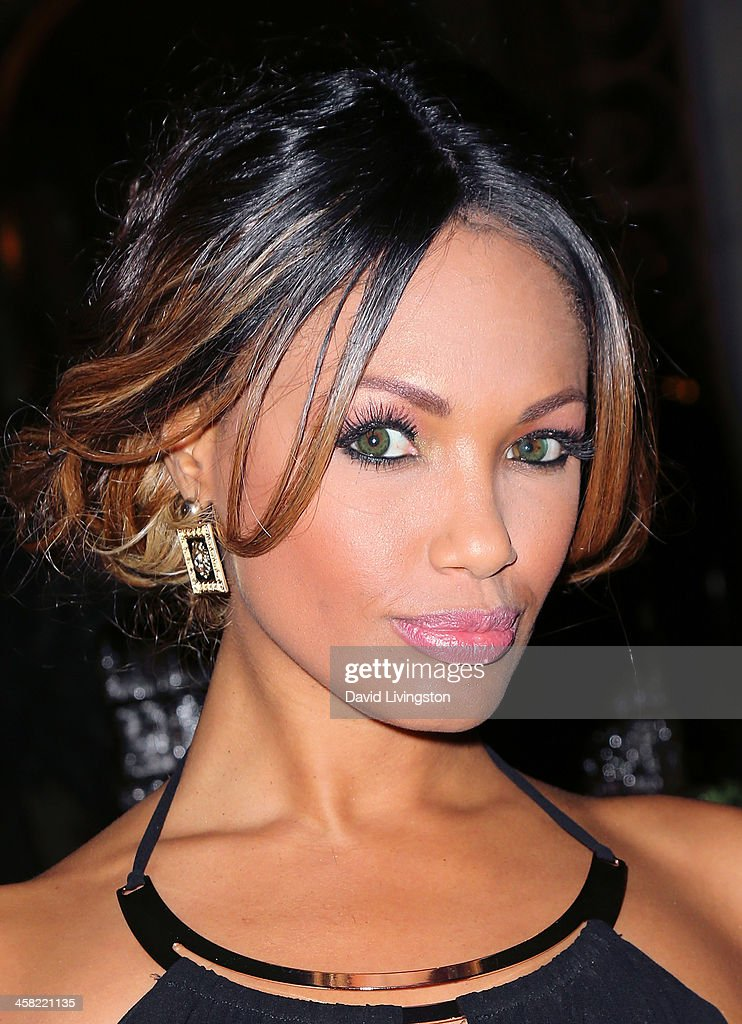 Actress/model K.D. Aubert attends Sue Wong's holiday party at her home on December 20, 2013 in Los Angeles, California.