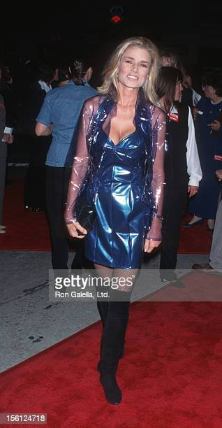 Actress/Model Kimber Sissons attending the premiere of 'Ace VenturaWomen Nature Calls' on November 8 1995 at Mann Village Theater in Westwood...