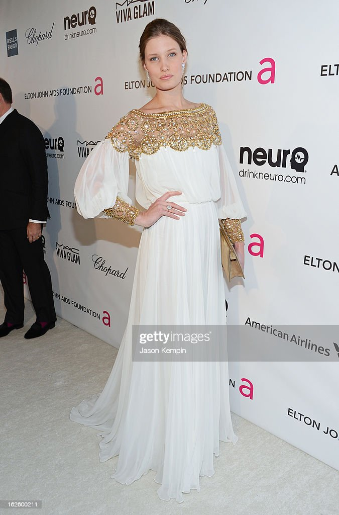 Actress/model Laetitia Casta attends the 21st Annual Elton John AIDS Foundation Academy Awards Viewing Party at West Hollywood Park on February 24, 2013 in West Hollywood, California.