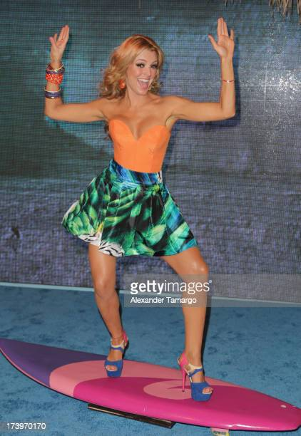 Actress/model Marjorie de Sousa attends the Premios Juventud 2013 at Bank United Center on July 18 2013 in Miami Florida