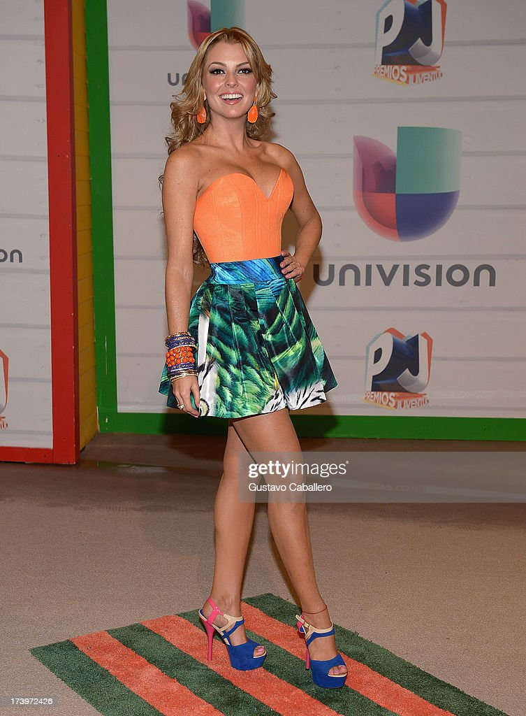 Actress/model Marjorie de Sousa attends the Premios Juventud 2013 at Bank United Center on July 18, 2013 in Miami, Florida.