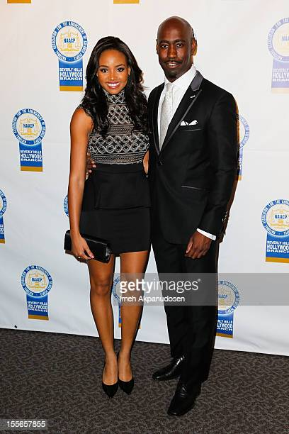 Actress/model Meagan Tandy and actor DB Woodside attend the 22nd Annual NAACP Theatre Awards at Directors Guild Of America on November 5 2012 in Los...