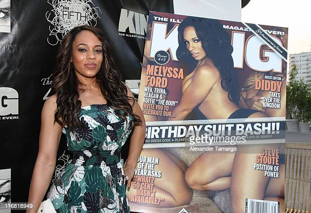 Actress/model Melyssa Ford poses during the Hazel Eyez Experience at The Catalina Hotel on May 4 2008 in Miami Beach Florida