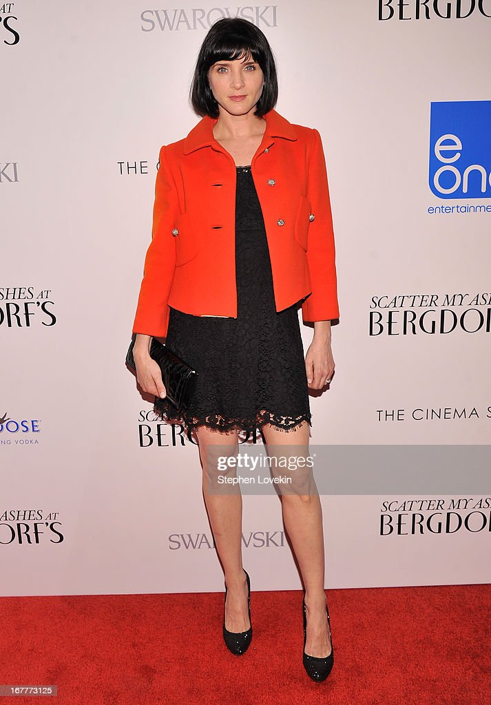 Actress/model Michele Hicks attends the Cinema Society with Swarovski & Grey Goose premiere of eOne Entertainment's 'Scatter My Ashes At Bergdorf's' at Florence Gould Hall on April 29, 2013 in New York City.