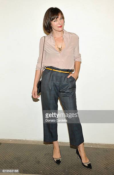 Actress/model Milla Jovovich attends the premiere of 'Past Forward' a movie by David O Russell presented by Prada on November 15 2016 at Hauser Wirth...