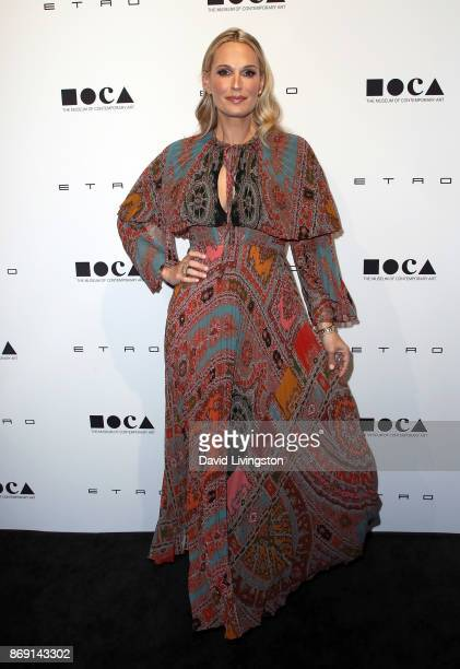 Actress/model Molly Sims attends the 10th MOCA Distinguished Women In The Arts luncheon at the Beverly Wilshire Four Seasons Hotel on November 1 2017...