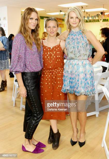 Actress/model Molly Sims jewelry designer Jen Meyer and Baby2Baby Copresident Kelly Sawyer attend Baby2Baby Mother's Day Party presented by Tiny...
