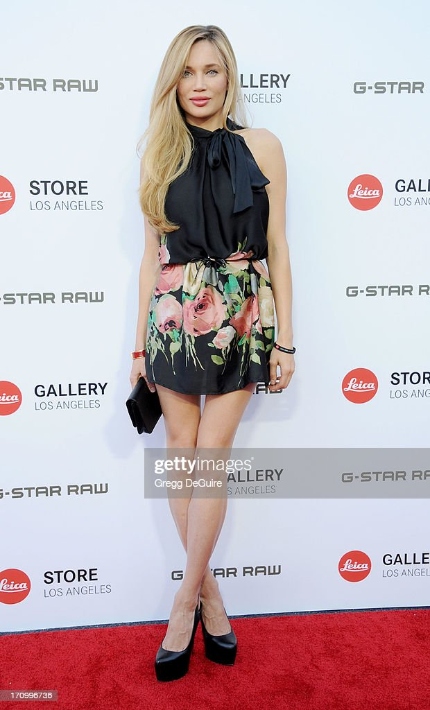 Actress/model Natalie Gal arrives at the Leica Store Los Angeles grand opening at Leica on June 20, 2013 in Los Angeles, California.