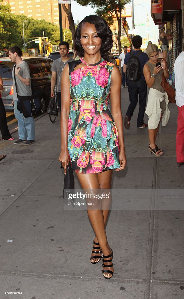 Actress/model Nichole Galicia attends the Lionsgate And Roadside Attractions With The Cinema Society Screening Of 'Girl Most Likely' at Landmark's Sunshine Cinema on July 15, 2013 in New York City.