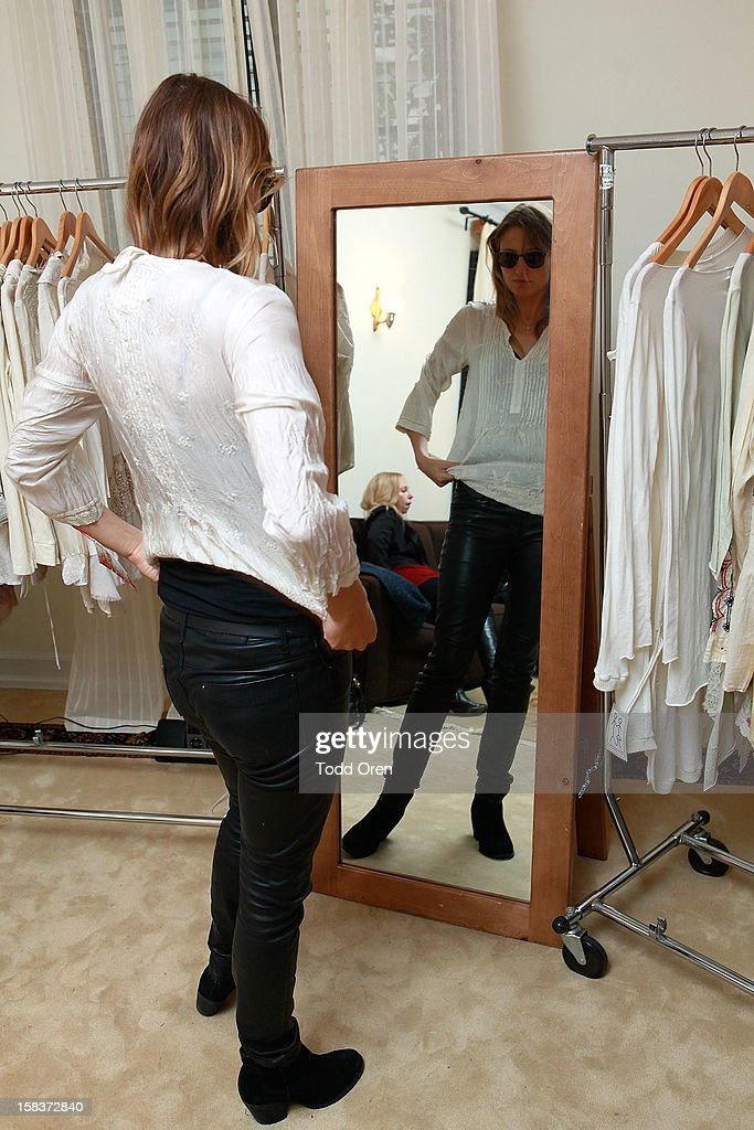 Actress/Model Noot Seear shops at the Johnny Was Holiday Gifting Suite at Chateau Marmont on December 13, 2012 in Los Angeles, California.