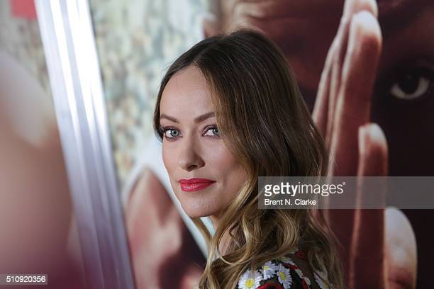 Actress/model Olivia Wilde attends the 'Race' New York screening held at Landmark's Sunshine Cinema on February 17 2016 in New York City