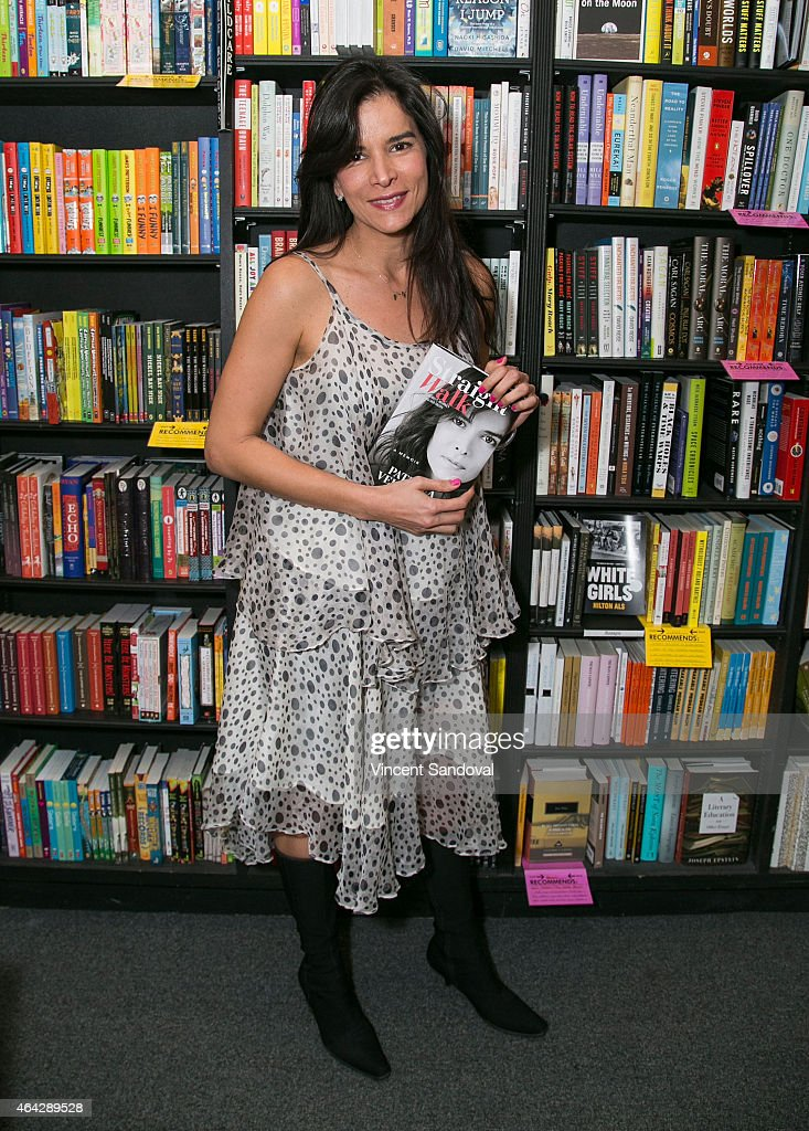 Actress/model Patricia Velasquez signs copies of her new book 'Straight Walk A Supermodel's Journey To Finding Her Truth' at Book Soup on February 23...