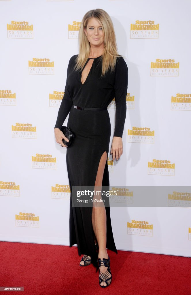 Actress/model Rachel Hunter arrives at the 50th Anniversary Celebration Of Sports Illustrated Swimsuit Issue at Dolby Theatre on January 14, 2014 in Hollywood, California.