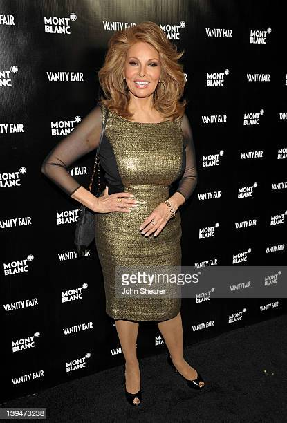 Actress/model Raquel Welch attends the Montblanc Vanity Fair Party celebrating the Collection Princesse Grace de Monaco at Hotel BelAir on February...