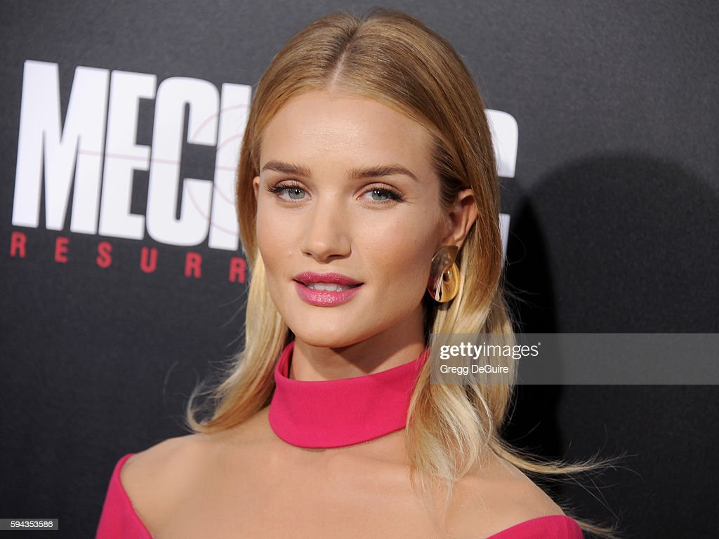 Actress/model Rosie HuntingtonWhiteley arrives at the premiere of Summit Entertainment's 'Mechanic Resurrection' at ArcLight Hollywood on August 22...