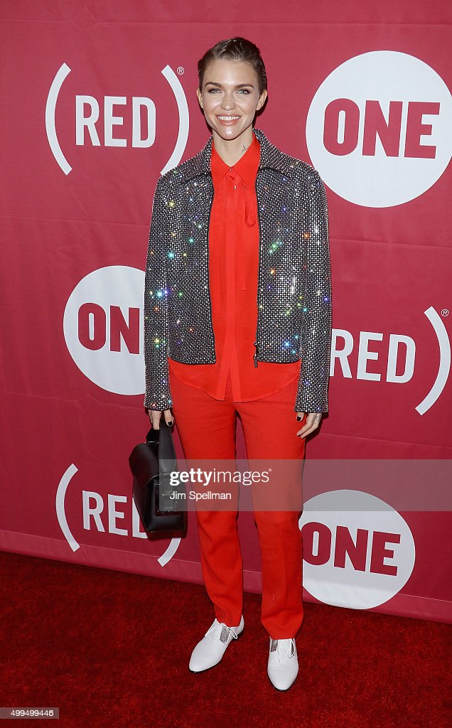 Actress/model Ruby Rose attends the ONE And (RED)'s 'It Always Seems Impossible Until It Is Done' at Carnegie Hall on December 1, 2015 in New York City.