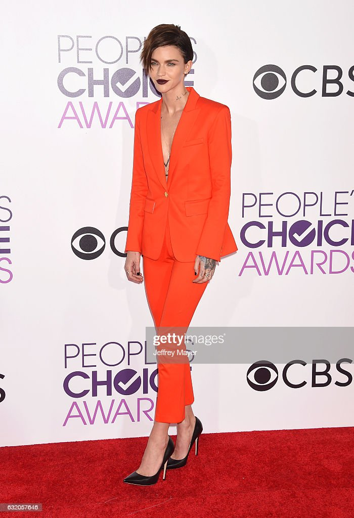 Actress/model Ruby Rose attends the People's Choice Awards 2017 at Microsoft Theater on January 18, 2017 in Los Angeles, California.
