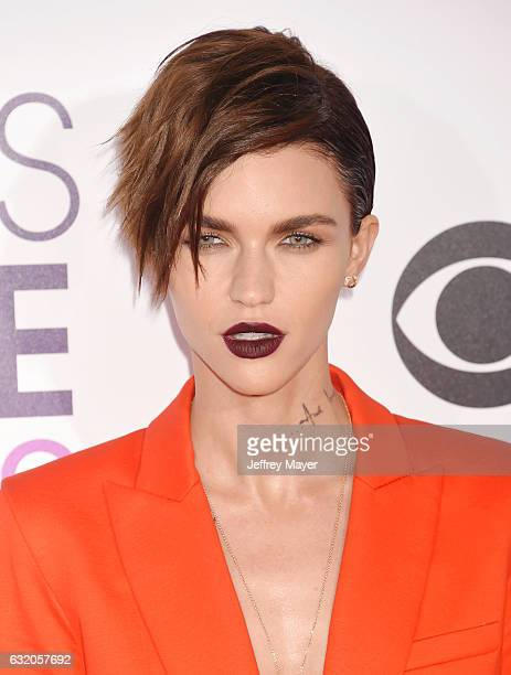 Actress/model Ruby Rose attends the People's Choice Awards 2017 at Microsoft Theater on January 18 2017 in Los Angeles California