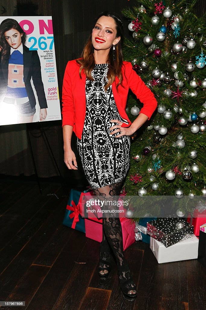 Actress/model Sandra Vergara attends the Celebration of NYLON's December/January Cover Star Lucy Hale Presented by bebe at Andaz Hotel on December 7, 2012 in Los Angeles, California.