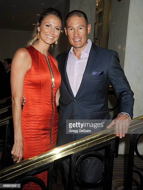 Actress/model Stacy Keibler and husband Jared Pobre arrive at The Independent School Alliance For Minority Affairs Impact Awards Dinner at Four...