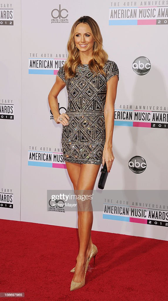 Actress/Model Stacy Keibler attends the 40th Anniversary American Music Awards held at Nokia Theatre L.A. Live on November 18, 2012 in Los Angeles, California.