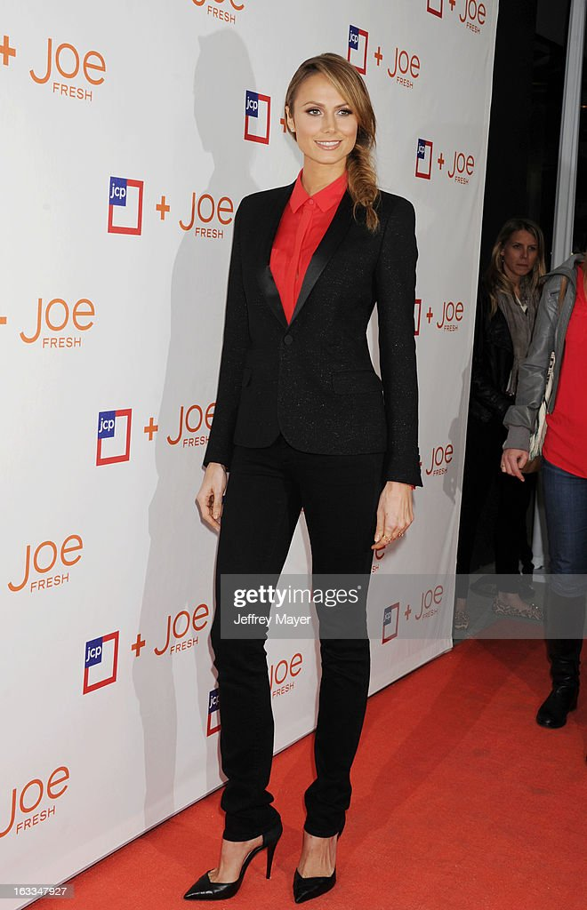 Actress/model Stacy Keibler attends the Joe Fresh at jcp launch event at Joe Fresh at jcp Pop Up on March 7, 2013 in Los Angeles, California.