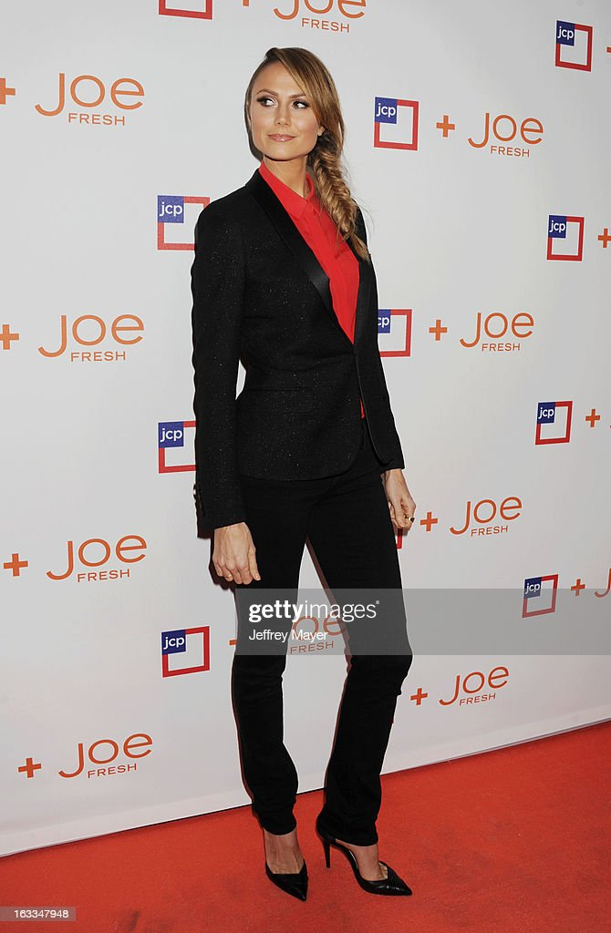 Actress/model <a gi-track='captionPersonalityLinkClicked' href=/galleries/search?phrase=Stacy+Keibler&family=editorial&specificpeople=3031844 ng-click='$event.stopPropagation()'>Stacy Keibler</a> attends the Joe Fresh at jcp launch event at Joe Fresh at jcp Pop Up on March 7, 2013 in Los Angeles, California.