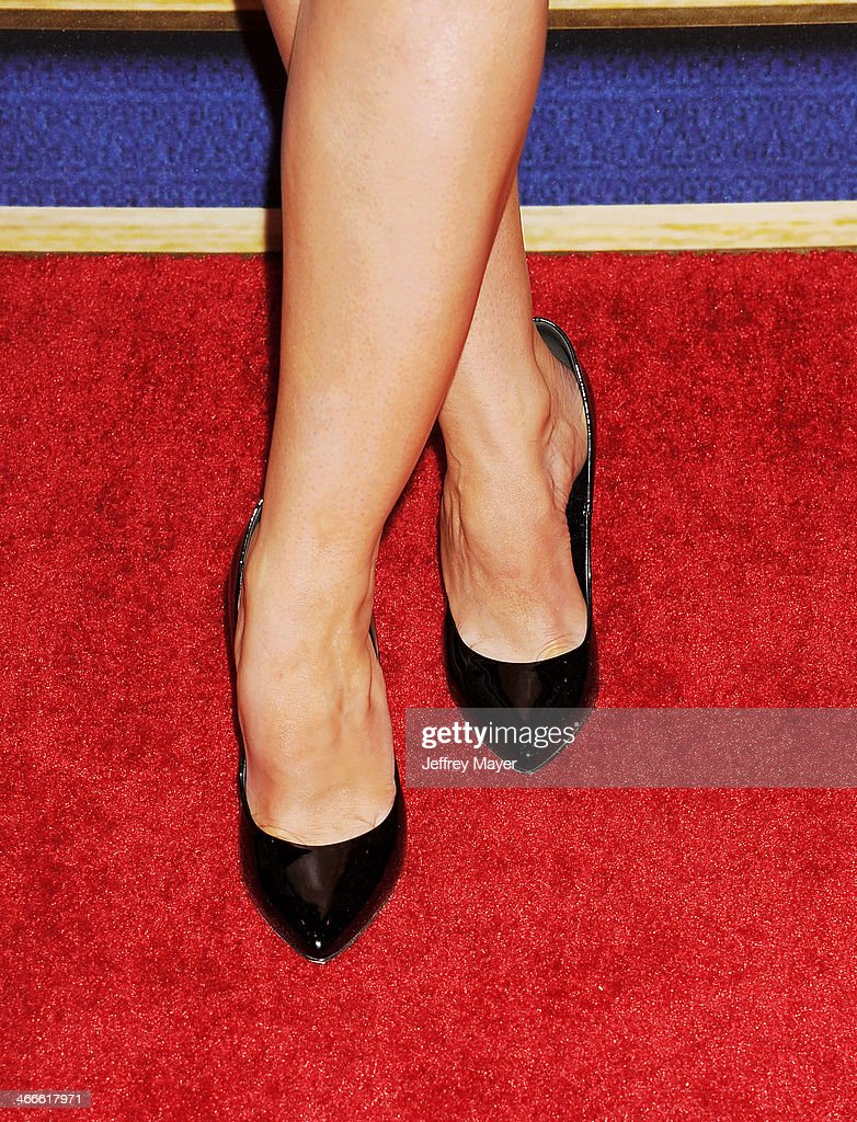 Actress/model Stana Katic (shoe detail) at the 2014 Writers Guild Awards L.A. Ceremony at JW Marriott Los Angeles at L.A. LIVE on February 1, 2014 in Los Angeles, California.