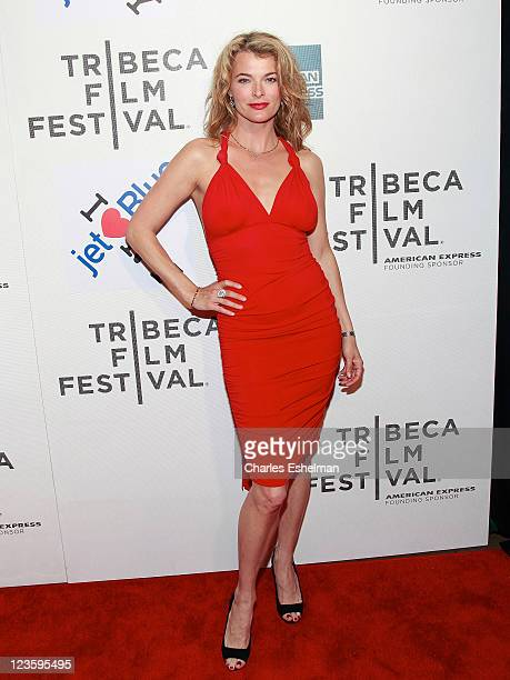 Actress/model Stephanie Romanov attends the American Express and Cinema Society premiere of 'Last Night' during the 10th annual Tribeca Film Festiva...