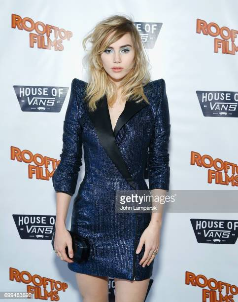 Actress/model Suki Waterhouse attends 'The Bad Batch' during rooftop screening at House of Vans on June 21 2017 in the Brooklyn borough of New York...