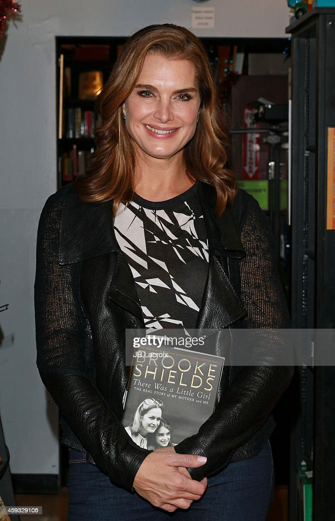 Actress/model/author Brooke Shields poses for a photo at the book signing event 'Brooke Shields In Conversation With Alex Cohen 'There Was A Little...