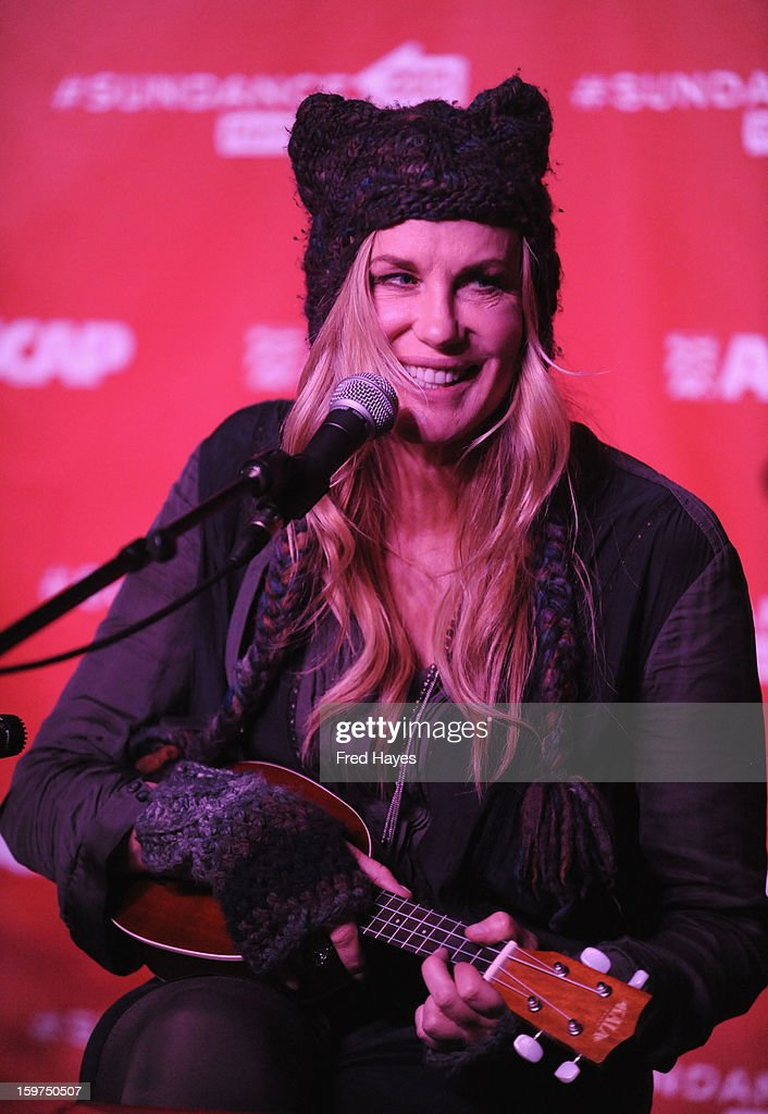 Actress/musician Daryl Hannah performs onstage during Day 2 of ASCAP Music Cafe at Sundance ASCAP Music Cafe during the 2013 Sundance Film Festival on January 19, 2013 in Park City, Utah.