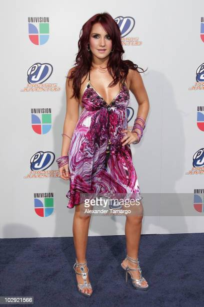 Actress/musician Dulce Maria attends the Univision Premios Juventud Awards at BankUnited Center on July 15 2010 in Miami Florida