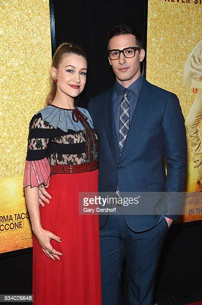 Actress/musician Joanna Newsom and actor Andy Samberg attend the 'Popstar Never Stop Never Stopping' New York premiere at AMC Loews Lincoln Square 13...