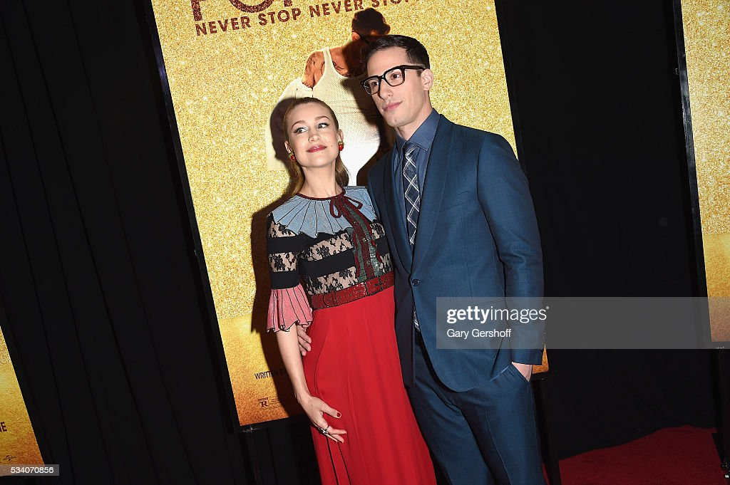 Actress/musician Joanna Newsom and actor Andy Samberg attend the 'Popstar: Never Stop Never Stopping' New York premiere at AMC Loews Lincoln Square 13 theater on May 24, 2016 in New York City.