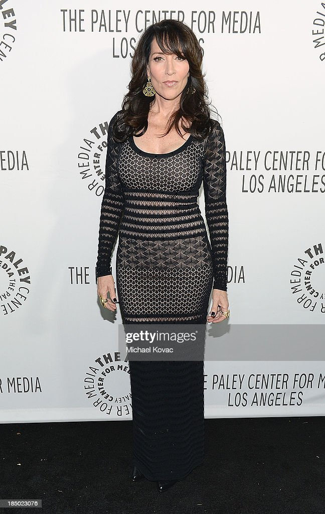 Actress/musician <a gi-track='captionPersonalityLinkClicked' href=/galleries/search?phrase=Katey+Sagal&family=editorial&specificpeople=221480 ng-click='$event.stopPropagation()'>Katey Sagal</a> arrives at The Paley Center for Media's 2013 benefit gala honoring FX Networks with the Paley Prize for Innovation & Excellence at Fox Studio Lot on October 16, 2013 in Los Angeles, California.