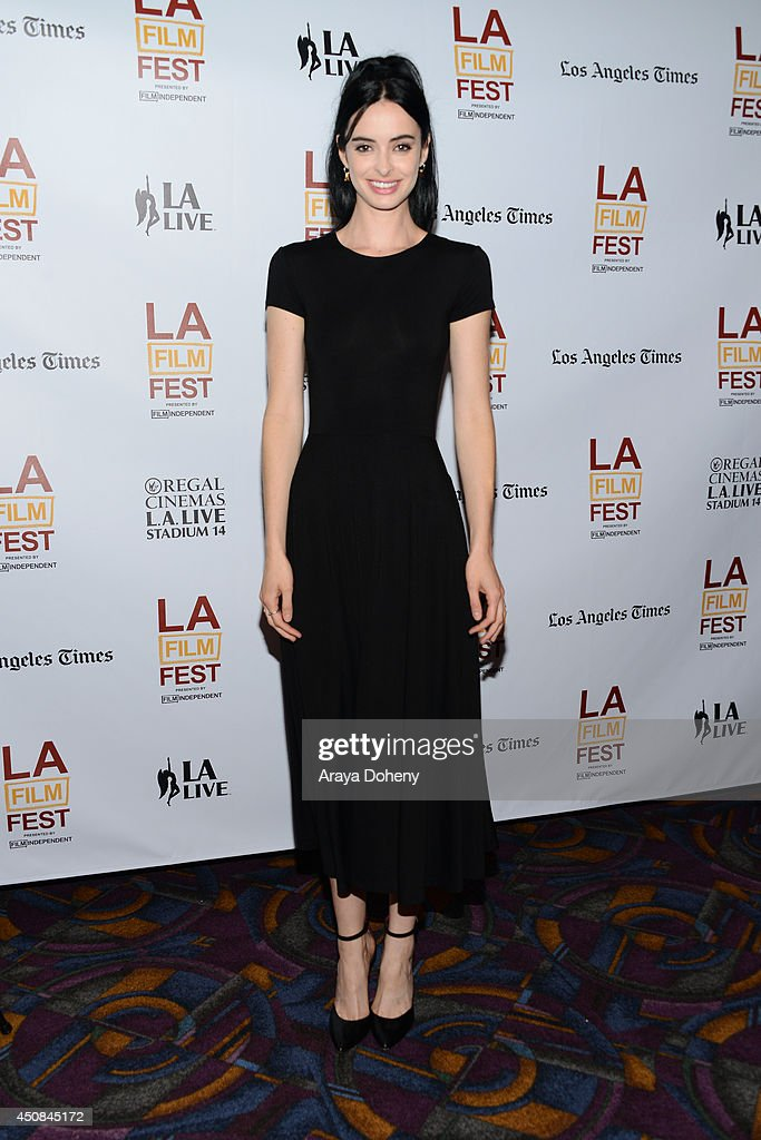 Actress/musician Krysten Ritter attends the premiere of 'The Road Within' during the 2014 Los Angeles Film Festival at Regal Cinemas LA Live on June...