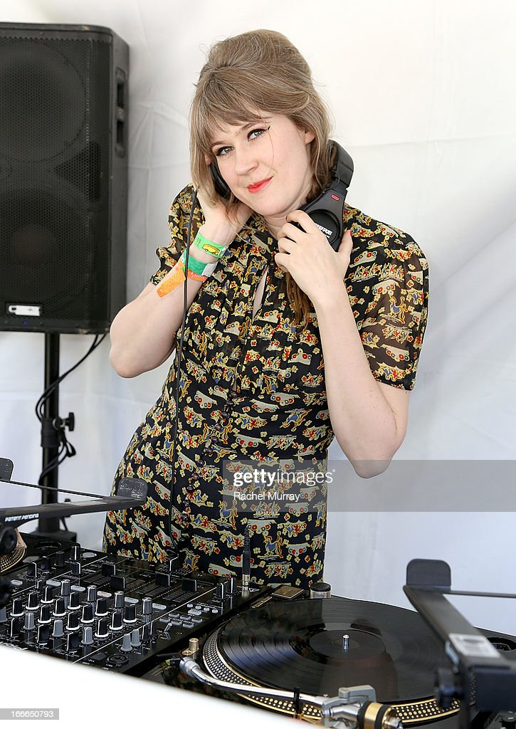 Actress/Musician Tennessee Thomas DJ set during NYLON x BOSS ORANGE Escape House - Day 2 at Lake La Quinta Inn on April 14, 2013 in La Quinta, California.
