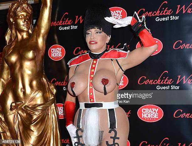 Actress/performer Allanah Starr attends the Conchita Wurst Crazy Horse Show Red Carpet Arrivals In Paris At the Crazy Horse Saloon on November 9 2014...