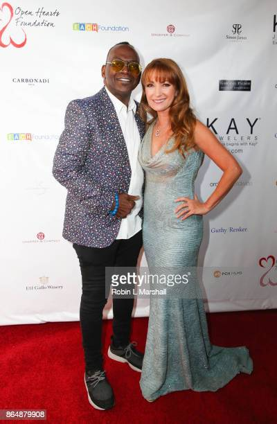 Actress/Philanthropist Jane Seymour and Randy Jackson attend the 2017 Open Hearts Gala at SLS Hotel on October 21 2017 in Beverly Hills California