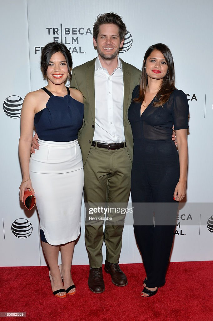 Actress/producer America Ferrera, direector Ryan Piers Williams and actress Melonie Diaz attend the 'X/Y' Premiere during the 2014 Tribeca Film Festival at BMCC Tribeca PAC on April 19, 2014 in New York City.