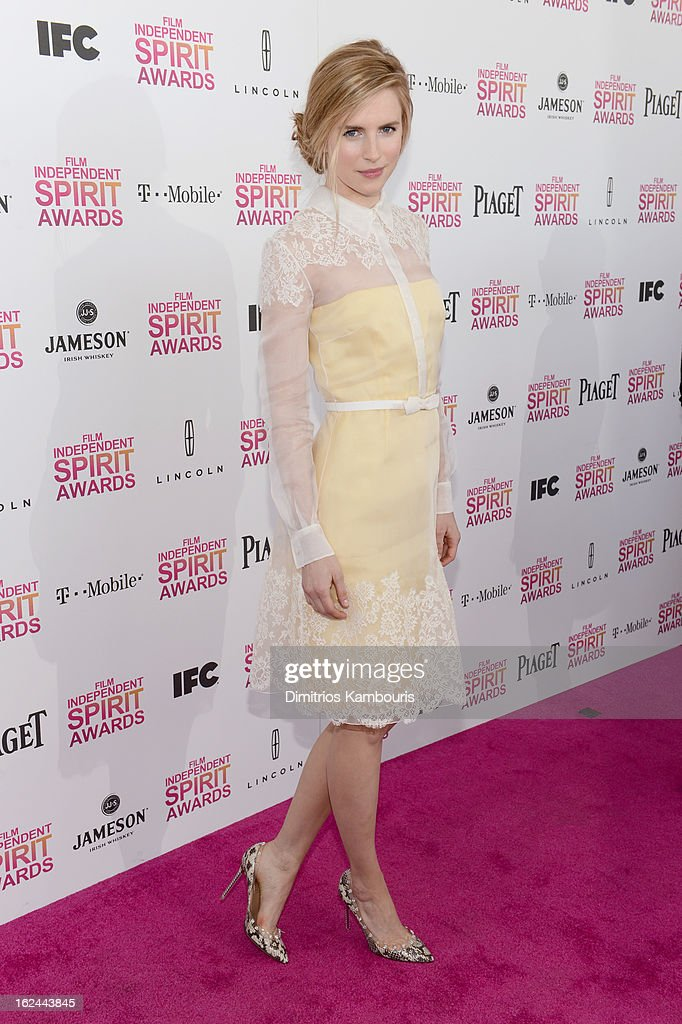 Actress-producer Brit Marling arrives with Jameson prior to the 2013 Film Independent Spirit Awards at Santa Monica Beach on February 23, 2013 in Santa Monica, California.