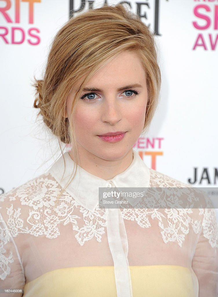 Actress-producer Brit Marling attends the 2013 Film Independent Spirit Awards at Santa Monica Beach on February 23, 2013 in Santa Monica, California.