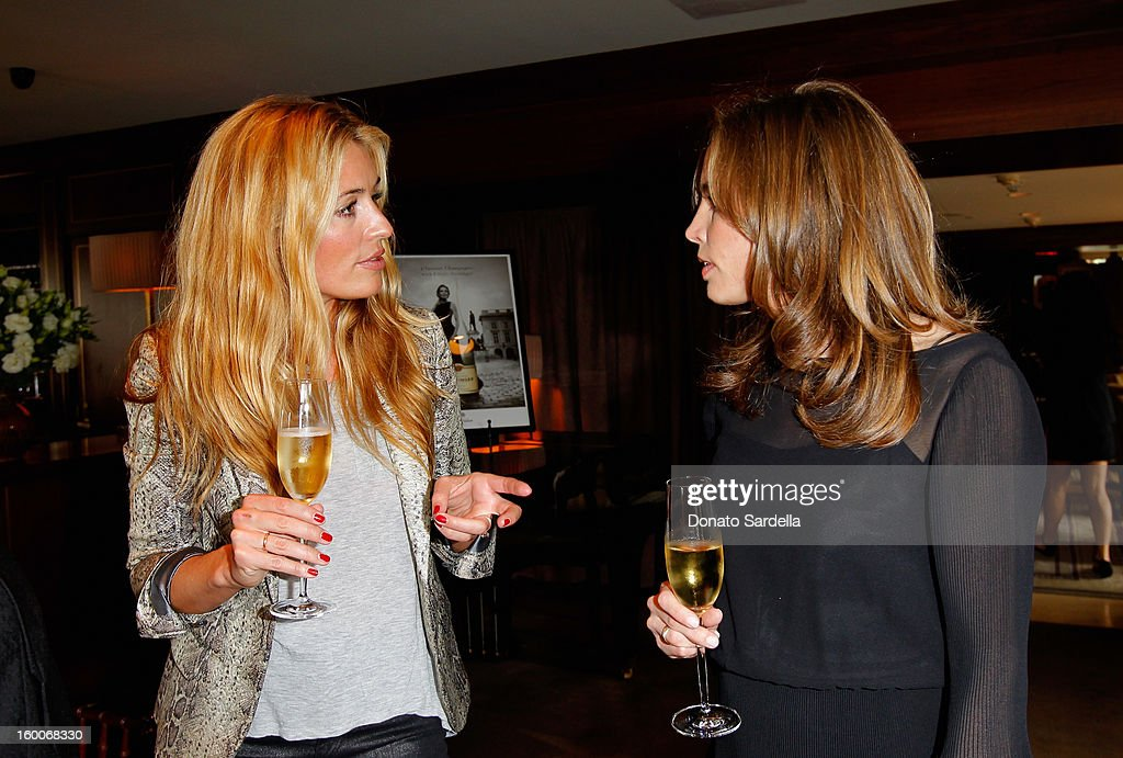 Actress/producer Cat Deeley and Vitalie Taittinger attend the Champagne Taittinger Women in Hollywood Lunch hosted by Vitalie Taittinger at Sunset Tower on January 25, 2013 in West Hollywood, California.