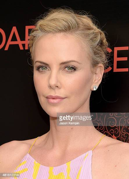 Actress/Producer Charlize Theron attends the Premiere Of DIRECTV's 'Dark Places' at Harmony Gold Theatre on July 21 2015 in Los Angeles California