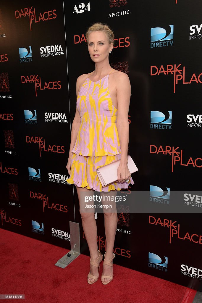 Actress/Producer Charlize Theron attends the Premiere Of DIRECTV's 'Dark Places' at Harmony Gold Theatre on July 21, 2015 in Los Angeles, California.