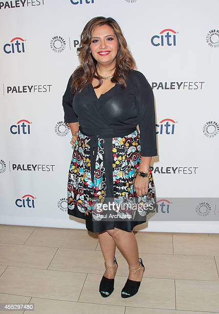 Actress/producer Cristela Alonzo attends the 2014 PaleyFest Fall TV preview for ABC at The Paley Center for Media on September 11 2014 in Beverly...